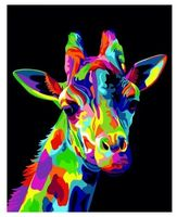 """Картина из песка """"Радужный жираф"""" (300х400 мм)"""
