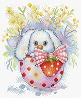 """Вышивка крестом """"Пасхальный кролик"""" (180х140 мм)"""