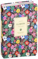"""Ежедневник недатированный """"Flowery tropical"""" (А5; чёрный)"""