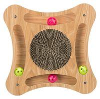 Когтеточка с игрушкой (35х4х35 см)