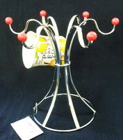 Вешалка для чашек металлическая (6 крючков, 22 см)