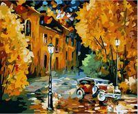 "Картина по номерам ""Осенний вечер"" (400х500 мм; цветной холст)"