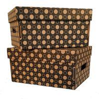 Набор коробок (2 шт.; черные; арт. FLK005с)