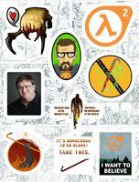 """Набор виниловых наклеек №181 """"Half-Life"""""""