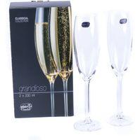 """Бокал для шампанского стеклянный """"Grandioso"""" (2 шт.; 230 мл)"""
