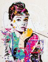 "Картина по номерам ""Одри Хепберн"" (400х500 мм)"