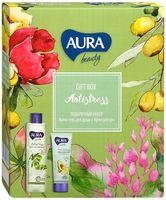 """Подарочный набор """"Aura beauty. Antistress"""" (крем-гель для душа, крем для рук)"""