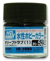 Краска Aqueous Hobby Color водоразбавляемая (oliver drab, H-52)