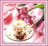 """Алмазная вышивка-мозаика """"Утренний кофе"""""""