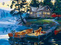 """Картина по номерам """"Домик у реки"""" (400х500 мм)"""