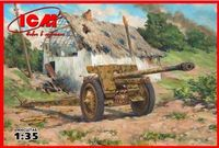 "Немецкая противотанковая пушка ""7,62 cm Pak 36(r) II МВ"" (масштаб: 1/35)"