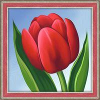 """Алмазная вышивка-мозаика """"Красный тюльпан"""" (150х150 мм; арт. АЖ-1634)"""