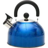 Чайник металлический со свистком (2,5 л; арт. GS-0401BY-Blue)