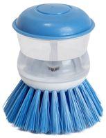 Щетка для мытья посуды пластмассовая с дозатором (8*8 см, арт. SK-0619)