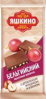 """Шоколад молочный """"Бельгийский. С дробленым фундуком и изюмом"""" (90 г)"""