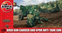 "Артиллерийский тягач с орудием ""Bren Gun Carrier/Anti-Tank Gun"" (масштаб: 1/76)"