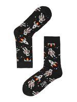"""Носки женские """"Астронавт"""" (061, черные)"""