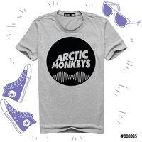 "Футболка серая унисекс ""Arctic Monkeys"" L (065)"