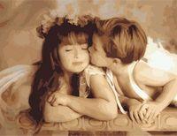 "Картина по номерам ""Ангельский поцелуй"" (500x650 мм; арт. MMC059)"