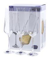 """Бокал для шампанского стеклянный """"Sandra"""" (6 шт.; 200 мл; арт. 40728/C5987/200)"""
