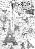 """Калька с принтом """"Париж"""" (А4)"""