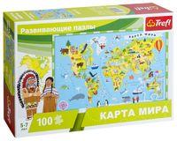 """Пазл """"Карта мира"""" (100 элементов)"""