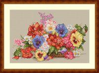 """Вышивка крестом """"Садовые цветы"""" (350х230 мм)"""