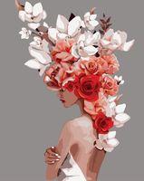 """Картина по номерам """" Мифология женской красоты. Смирение"""" (400х500 мм)"""