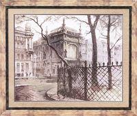 """Вышивка крестом """"Питерский дворик"""""""