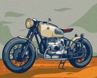 "Картина по номерам ""Мотоцикл BMW"" (400х500 мм)"