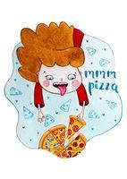 "Открытка ""Яна Поддубская. Pizza"" (арт. 1205)"