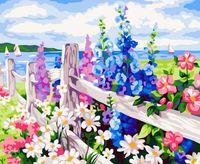 "Картина по номерам ""Цветущая изгородь"" (400х500 мм)"