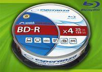 Диск BD-R 25Gb 4x Esperanza Cakebox 10