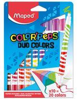 """Фломастеры двухсторонние """"Color Peps Duo"""" (10 шт.; 20 цветов)"""