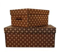 Набор коробок (2 шт.; коричневая и темно-коричневая)