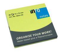 """Бумага для записей на клейкой основе """"Info notes"""" (зеленый неон; 75 x 75 мм; 80 листов)"""