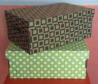 Набор коробок (2 шт.; темно-зеленая и светло-зеленая)