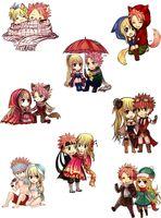 "Набор виниловых наклеек ""Fairy Tail. Natsu and Lucy"""