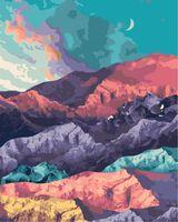 "Картина по номерам ""Цветные горы"" (400х500 мм)"