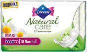 """Гигиенические прокладки Libresse Natural Care """"Maxi Normal"""" (10 шт)"""