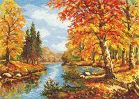 """Вышивка крестом """"Золотая осень"""" (350x250 мм)"""