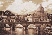 """Вышивка крестом """"Рим. Собор святого Петра"""""""