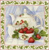 """Алмазная вышивка-мозаика """"Чай с клубникой"""""""