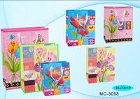 """Пакет бумажный подарочный """"Цветы"""" (в ассортименте; 26x32x12 см; арт. МС-3098)"""