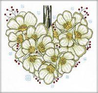 """Вышивка крестом """"Морозник сердце. Январь"""""""