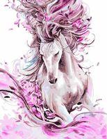 """Картина по номерам """"Женственная лошадь"""" (400х500 мм)"""