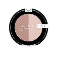 "Тени для век ""Relouis Pro Eyeshadow Duo"" (тон: 101)"