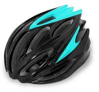 """Шлем велосипедный """"WT-029"""" (чёрный/голубой)"""