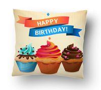 "Подушка маленькая ""Happy Birthday"" (art.2)"