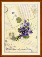"""Набор для вышивания """"Письма о любви. Фиалки"""""""